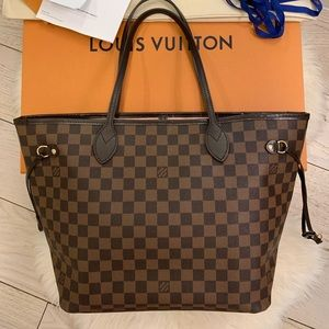 Louis Vuitton 2018 Neverfull MM Damier Ebene Tote